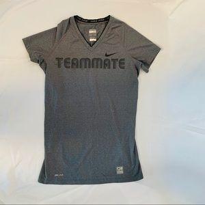Nike Teammate Grey Stretch Top XS